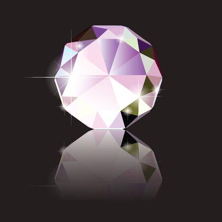 stone cutter: Illustration of A brilliant cut diamond Illustration