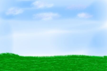 Illustration of field on a background of the blue sky Stock Illustration - 13407890