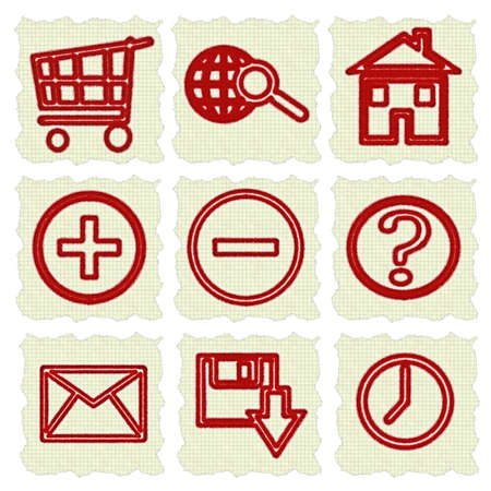 Web Icons, Internet   website icons, signs and symbols, icons set, web buttons  Stock Photo - 13838690