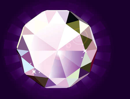 Illustration of A brilliant cut diamond Vector
