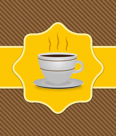 Illustration of card with cup of coffee background  illustration
