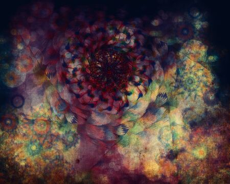 Abstract colourful art floral grunge texture background  photo