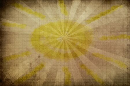 Abstract illustration of a sun burst on grunge background  illustration