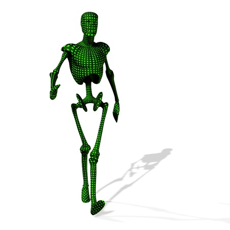 Abstract green cyborg, robot, futuristic cyber humanoid  Stock Photo - 15147038