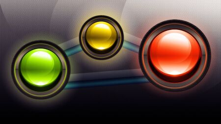 batterfly: Abstract metallic background with round glossy battons
