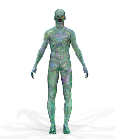 Abstract green cyborg, robot, futuristic cyber humanoid. Stock Photo - 15221678