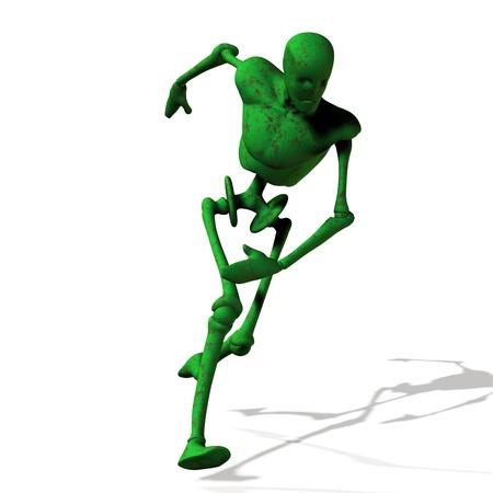 Abstract green cyborg, robot, futuristic cyber humanoid. Stock Photo - 15221656