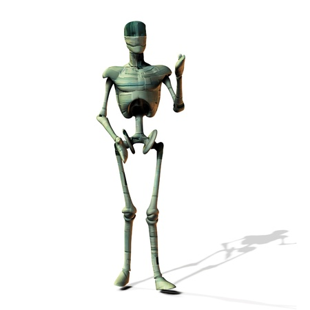 Abstract cyborg, robot, futuristic cyber humanoid on white background. Stock Photo - 15281829