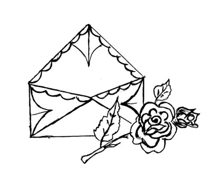envelop: Envelop and rose