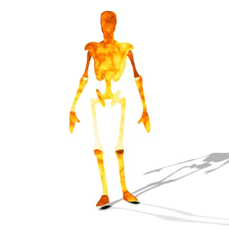 Abstract fire cyborg, robot, futuristic cyber humanoid Stock Photo - 15281827