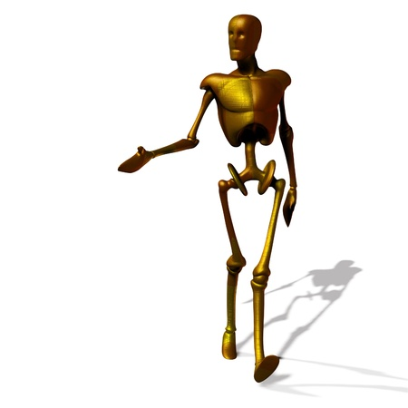 Abstract gold cyborg, robot, futuristic cyber humanoid Stock Photo - 15281831