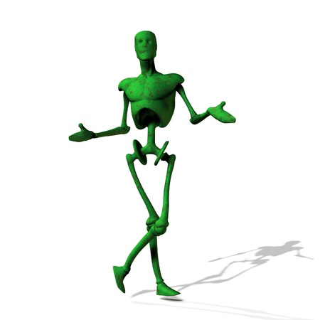 Abstract green cyborg, robot, futuristic cyber humanoid Stock Photo - 15281841
