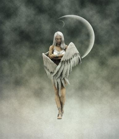 3d numériquement rendu l'image du bel ange. Banque d'images - 15281946