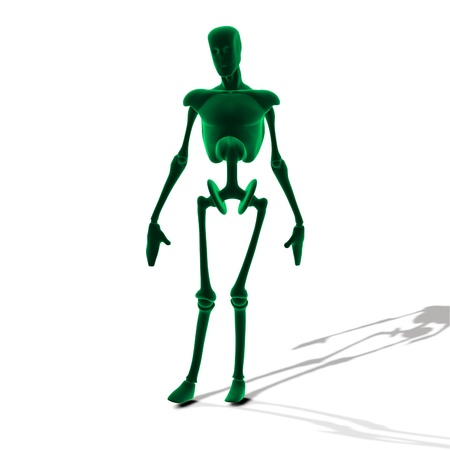 Abstract green cyborg, robot, futuristic cyber humanoid  Stock Photo - 15685429