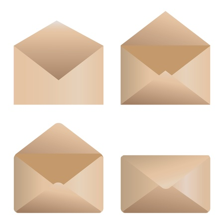 outage: Web icons open and close envelopes on white background. Illustration