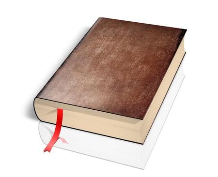 Illustration of old book over white background. illustration