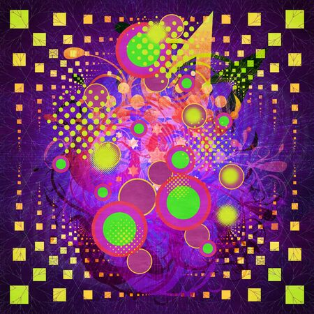 Illustration of abstract colorful retro music background. illustration