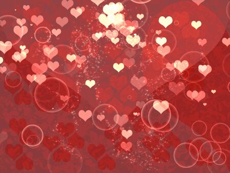 Illustration of shiny hearts and buttles light Valentine's day background. Stock Illustration - 16485451