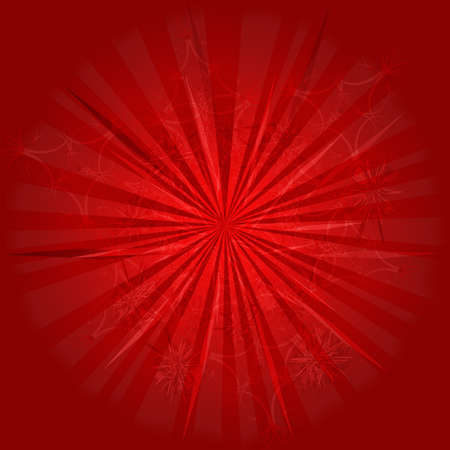 Illustration of abstract bright red rays background. illustration