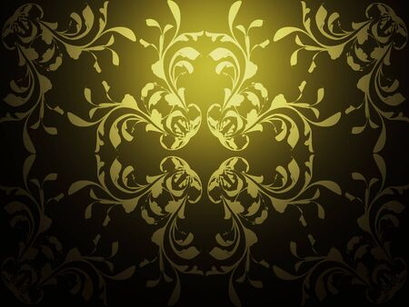 Illustration of abstract yellow background with pattern texture. Stock Illustration - 16553740