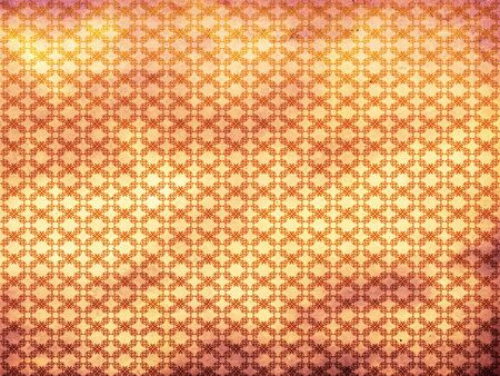 Grunge illustration of colorful pattern background with flourish. Stock Illustration - 16635069