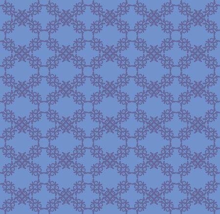 Illustration of abstract vintarge blue floral pattern texture background. illustration