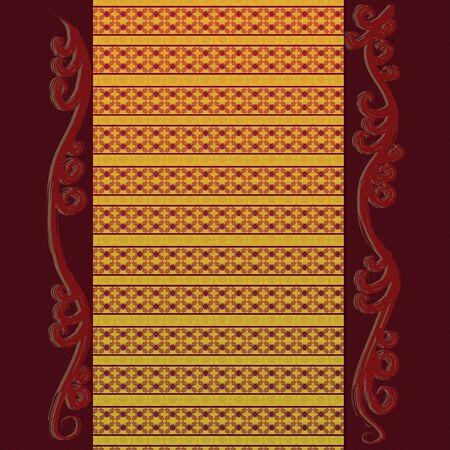 Illustration of a beautiful floral pattern vintage background. Stock Illustration - 16734189