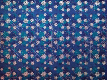 Illustration of abstract vintage snowflake texture background. illustration