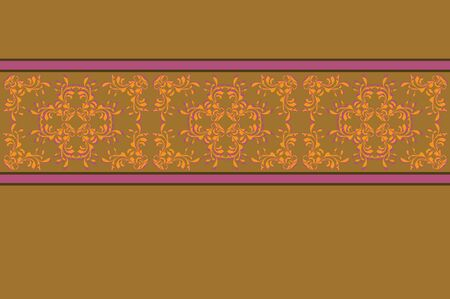 page decoration: Illustration of vintage yellow flowers pattern texture background.