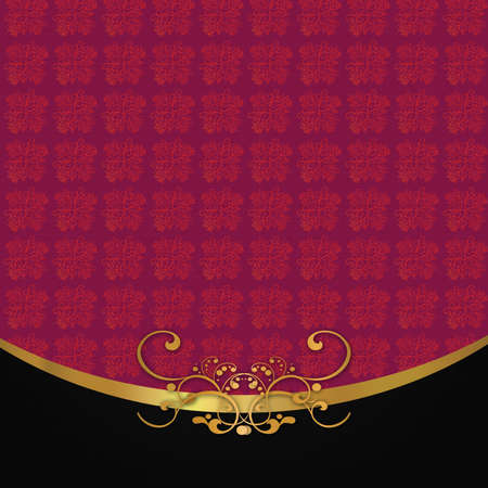 Abstract background with antique, vintage red pattern, floral wallpaper ornaments. photo