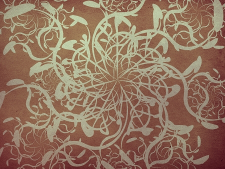 swill: Illustration of abstract vintage floral ornament texture background. Stock Photo