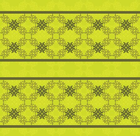 swill: Illustration of green floral lace pattern texture background.