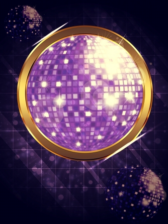 Illustration of abstract music background with disco ball. Stock Illustration - 16939682