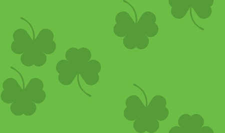 patric banner: Illustration of St. Patricks day background with shamrocks, clovers.