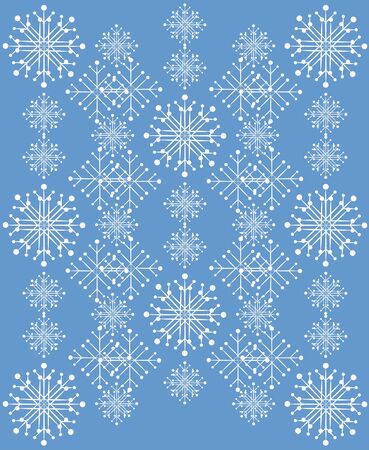 Illustration of white snowflakes on blue background. Stock Vector - 17009478