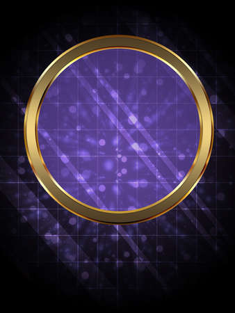 Illustration of abstract glowing colorful background with circle. illustration