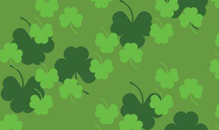 Illustration of St. Patrick's day background with shamrocks, clovers. Stock Illustration - 17058279
