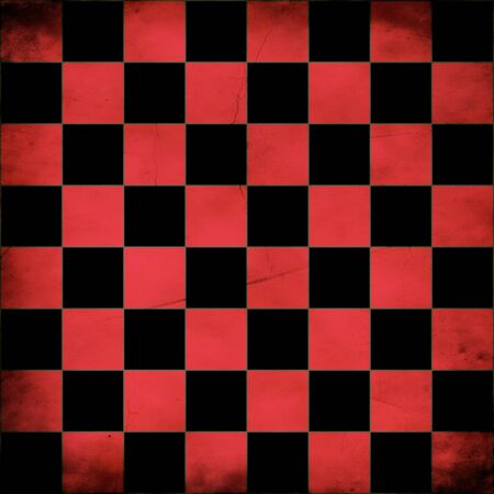 Illustration of grunge red checker board, abstract background. illustration