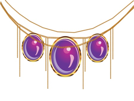 Illustration of luxury fantasy purple jewelry on white background. Stock Vector - 17162734