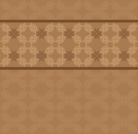 swill: Illustration of brown floral lace pattern texture background.