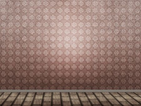 Illustration of empty room with grunge pattern on wall. Stock Illustration - 17638857