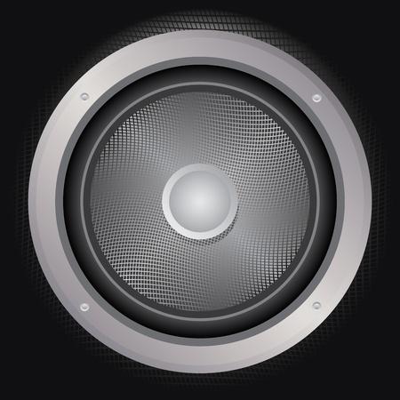 loud speaker: Illustration of audio loud speaker icon, vector background.