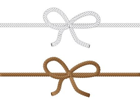 Giallo e grigio corda fiocco su sfondo bianco Archivio Fotografico - 18063836