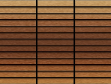 louvered: Illustration of grunge wooden roller shutters texture or background.