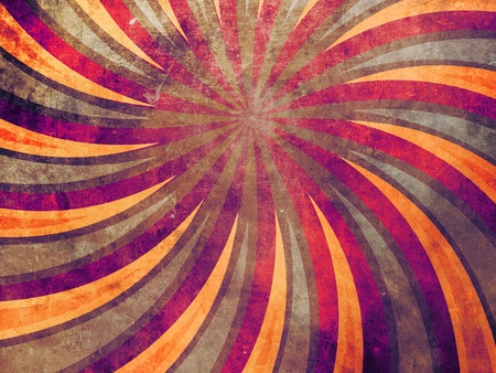 colrful: Vintage grunge background with yellow and red rays. Stock Photo