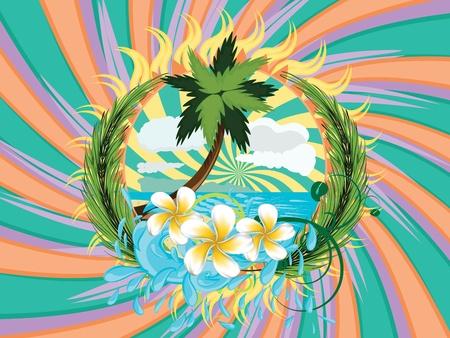 Cartoon Palm Tree Island Island With Palm Tree And