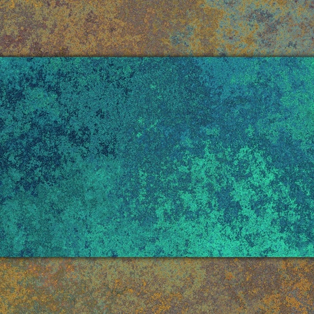 patina: Vintage background with old grunge and blue rusty metal texture. Stock Photo