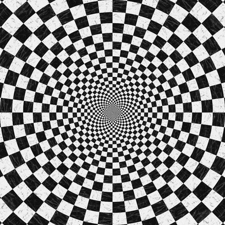 Abstract black and white chess background with perspective effect. photo