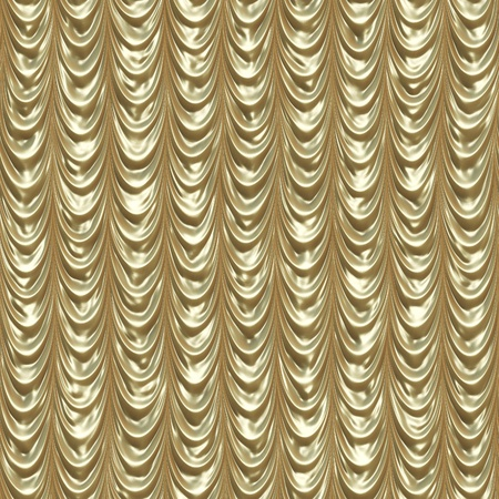 Elegant golden retro theate draped curtain background. Stock Photo - 19110297