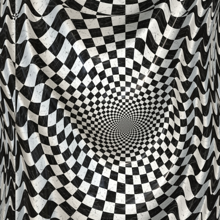 Abstract black and white checkered banner background. photo